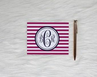 Personalized Monogram Stationery-Striped