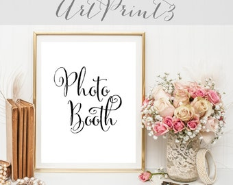 Photo Booth Sign Printable, Grab a Prop Strike a Pose, Printable Wedding Sign, Printable Wedding Photo Booth, Wedding Prop Photo Booth Sign