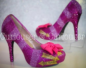 Cheshire Cat Inspired Sparkly Heels