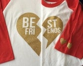 Best Friends 3/4 sleeve Raglan Mommy and Me Set; Sibling Shirts