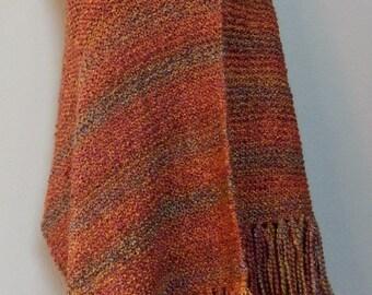 Wild Fire Knit Shawl/Prayer Shawl