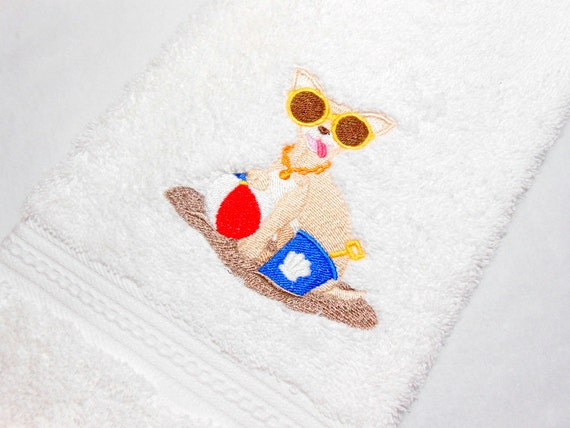 Chihuahua Towel Guest Towel Beach Theme By Arizonathreads On Etsy