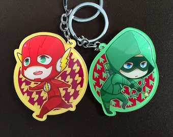 DC Comic TV Show The Flash / The Arrow / Barry Allen / Oliver Queen Flarrow