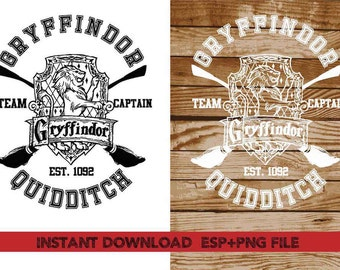 Gryffindor Quidditch Clip Art,T shirt, iron on , sticker, Vectors files ,Personal Use