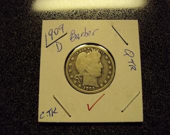 1909D Barber Quarter