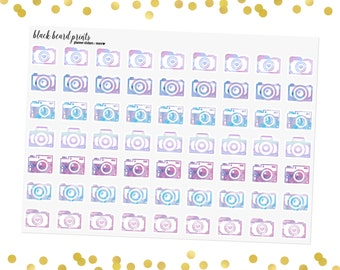 Watercolor Camera | Photography Planner Stickers