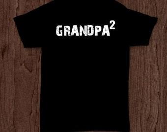 Grandpa squared funny t-shirt tee shirt tshirt Christmas dad father dad family fun father's day grandfather grandpa grandad fun family fun