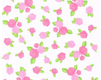 Dots and Roses  Floral Print Origami Paper | Rose Chiyogami Paper