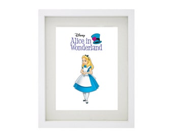 ALICE from Disney's Alice In Wonderland Framed Art Collection - Walt Disney Print