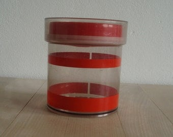 Erik Kold Plast A/S – red and clear plastic canister - 2010