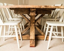 Farmhouse Dining Table - Reclaimed Wood Dining Table - Rustic Dining Table