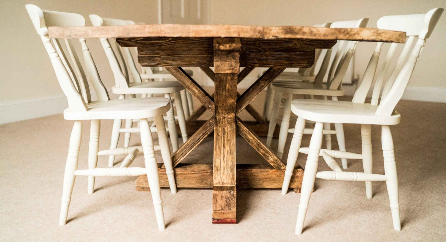 farmhouse dining table reclaimed wood dining table rustic. Black Bedroom Furniture Sets. Home Design Ideas