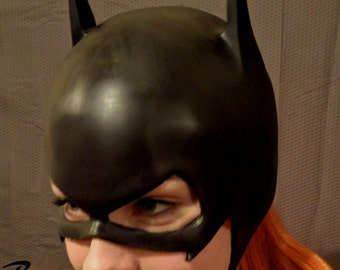 Batgirl rubber cowl for cosplay, costume, or halloween - can be made in other colors,  good for bombshell Batgirl too!