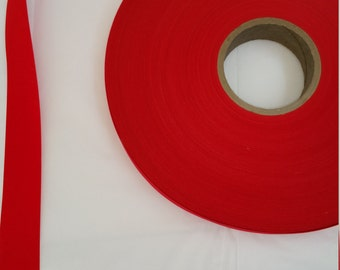 Large Roll of Red Velvet Craft Ribbon