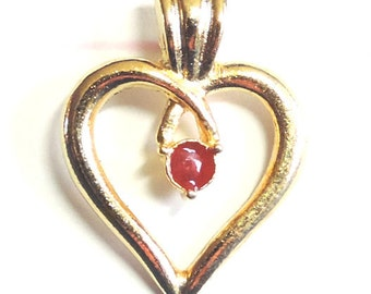 FREE SHIPPING!  Heart Pin with Rhinestone