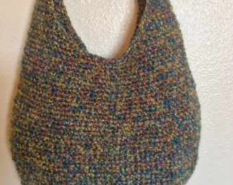 Crochet Hobo Purse, Handbag