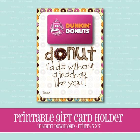 instant download donut gift card holder amazing teacher. Black Bedroom Furniture Sets. Home Design Ideas