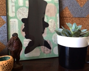 Lincoln portrait etsy Home decor lincoln ne