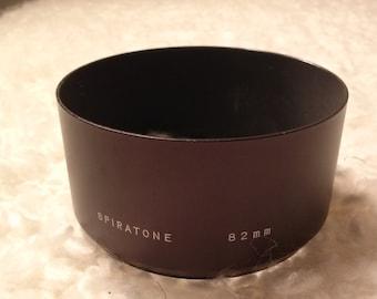 Vintage Spiratone 82mm metal Lens Hood Made in Japan