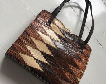 Vintage Ackery of London leather handbag