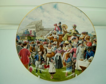 Royal Worcester Fine Bone China Plate - 'An Edwardian Summer - The Derby' - Collector's Plate - England