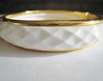 White & Gold Tone Accents Bracelet