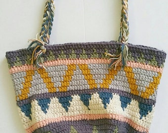 Crochet bag. Crochet tapestry bag. Market bag. Crochet handbag. Tapestry handbag. Shopping bag. Crochet tote bag