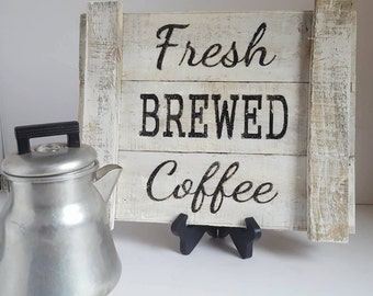 Farmhouse Decor, Rustic Decor, Coffee Decor, Rustic Sign, Reclaimed Wood Sign Coffee Sign,  Kitchen SIgn, Rustic Kitchen Decor, Kitchen Sign