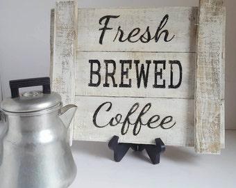 Farmhouse Decor Rustic Decor Coffee Decor Rustic Sign Reclaimed Wood Sign Coffee