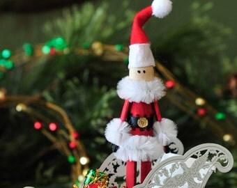 Pinspot Santa Clothespin Ornament