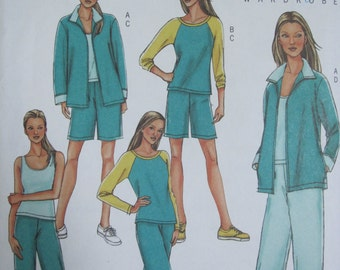 PATTERN BUTTERICK B4079 set of pants, jacket, shorts, camisole Lifestyle Wardrobe size 14 has 18