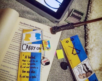 Carry on bookmark - Handmade