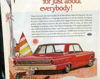 Ford Fairlane 500 ad, 1962