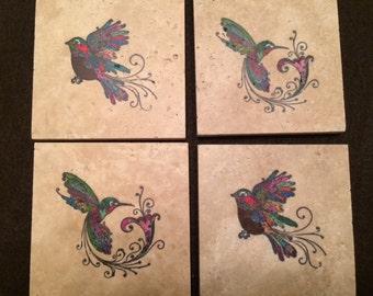 Bird Tile Coasters
