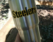 Steelers Tumbler Etsy Pittsburgh Steelers Yeti Rtic Tumbler