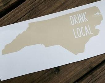 Drink Local North Carolina Vinyl Decal