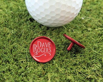 SET OF 8, Personalized Golf Ball Marker, Golf Ball Marker, Ball Marker, Golf Gift, Golf Gift for him, Gift for him, Fathers Day Gift