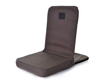 OmLove Lotus Folding & Reclining Meditation Chair – Grey
