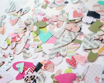 Hearts die cuts: scrapbooking, paper, craft, confetti