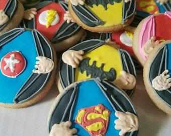 Superhero shirt cookies (12)