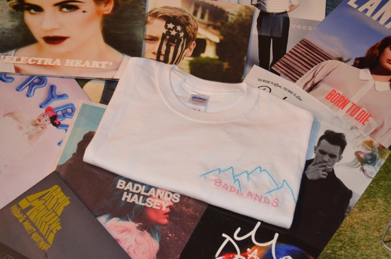 High Quality Halsey Hqhaisey: Halsey Badlands Embroidered T-shirt By MerchByMattie On Etsy