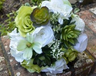 Ivory Goddess Succulent Bouquet