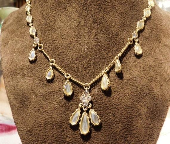 Vintage Carolina Herrera Rhinestone Necklace