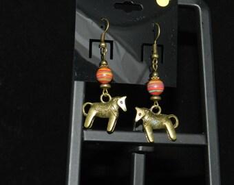 CLEARANCE *Mexican Burro Rainbow Stone Earrings
