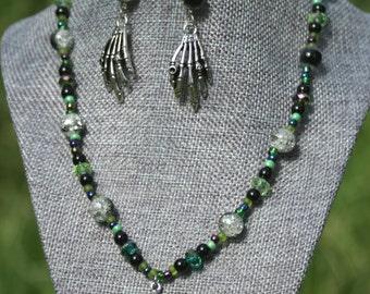 Green Zombie Hunting Jewelry Set