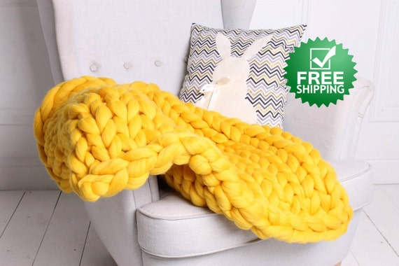 klobige decke riesen garn chunky knit decke super chunky. Black Bedroom Furniture Sets. Home Design Ideas