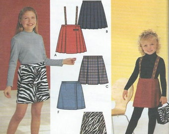 Simplicity sewing pattern 9337, skirt for little girls, size 7-14, uncut