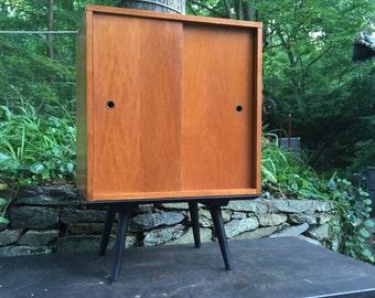 Paul McCobb Planner Vinyl Cabinet Credenza