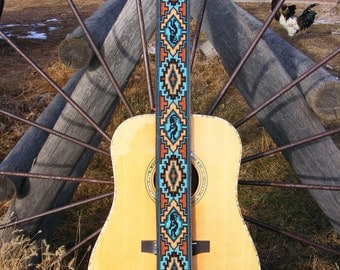 Custom Made Beaded Guitar Straps
