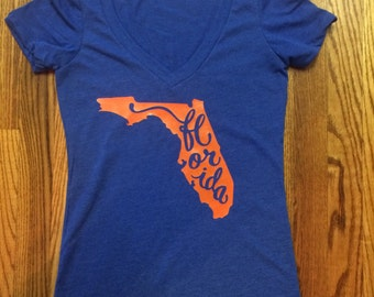 Gator Girl ~ Florida Gators Top ~ University of Florida ~ UF ~Multiple Sizes ~ Multiple Colors